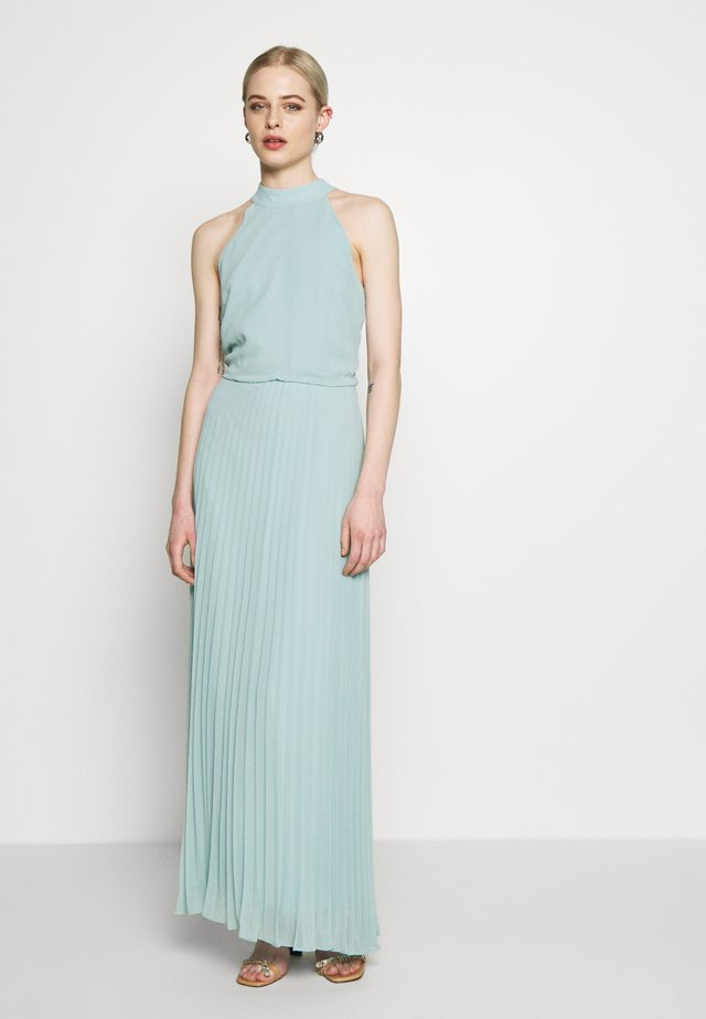 MEGAN HIGH NECK PLEAT MAXI - Maksimekko - pale green