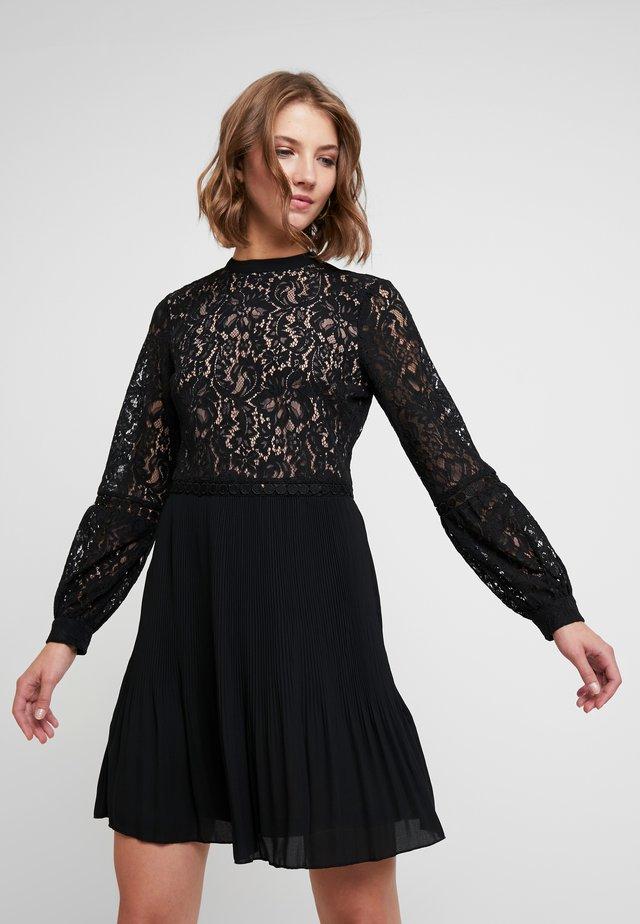 PLEATED TWO TIER SKATER - Cocktailkleid/festliches Kleid - black