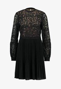 Oasis - PLEATED TWO TIER SKATER - Robe de soirée - black - 4
