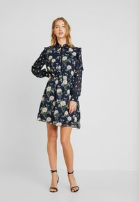 Oasis - LOGANBERRY PUSSYBOW BLOUSE DRESS - Vestito estivo - multi blue - 2