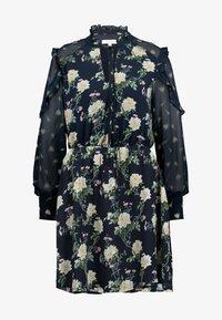 Oasis - LOGANBERRY PUSSYBOW BLOUSE DRESS - Vestito estivo - multi blue - 5