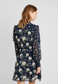 Oasis - LOGANBERRY PUSSYBOW BLOUSE DRESS - Vestito estivo - multi blue - 3