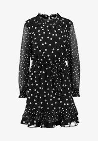 Oasis - SPOT SHIRRED NECK SKATER - Denní šaty - multi black - 4