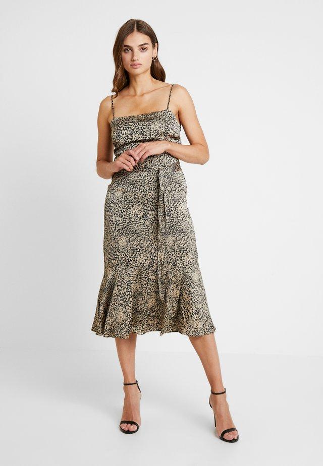 MAGIC ANIMAL CAMI PEPLUM SLIP DRESS - Korte jurk - multi
