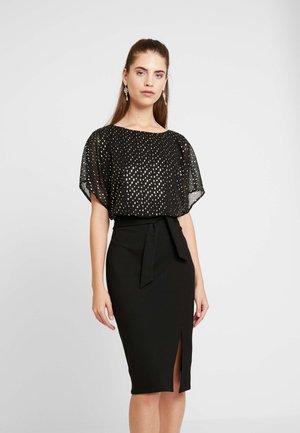 MIX WIGGLE DRESS - Cocktail dress / Party dress - multi black