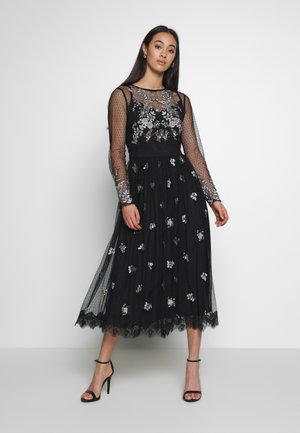 EMBELLISHED BIRD MIDI - Occasion wear - black