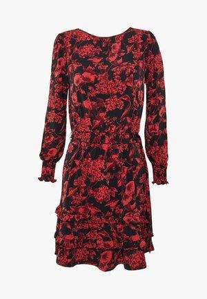 ANTONIO FORAL BLOUSE DRESS - Robe d'été - mid red