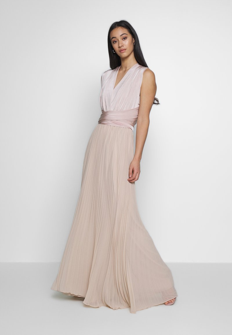 Oasis - PENNY WEAR IT YOUR WAY PLEATED MAXI - Společenské šaty - nude