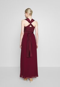 Oasis - PENNY WEAR IT YOUR WAY PLEATED MAXI - Occasion wear - burgundy - 3