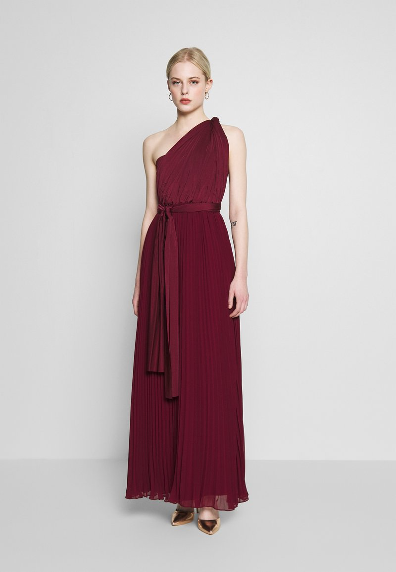 Oasis - PENNY WEAR IT YOUR WAY PLEATED MAXI - Occasion wear - burgundy