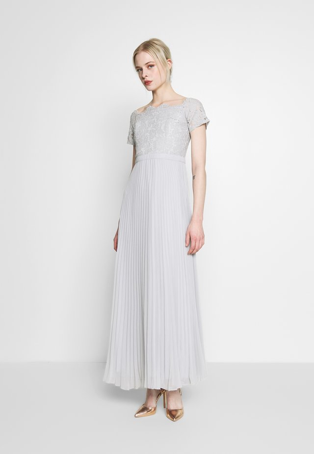HOLLY BARDOT PLEATED MAXI - Gallakjole - pale grey