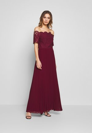 HOLLY BARDOT PLEATED MAXI - Iltapuku - burgundy