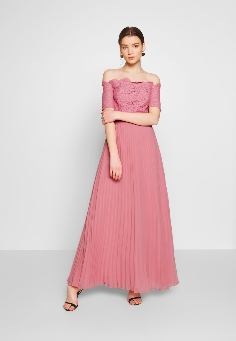 Oasis - HOLLY BARDOT PLEATED MAXI - Iltapuku - pale pink