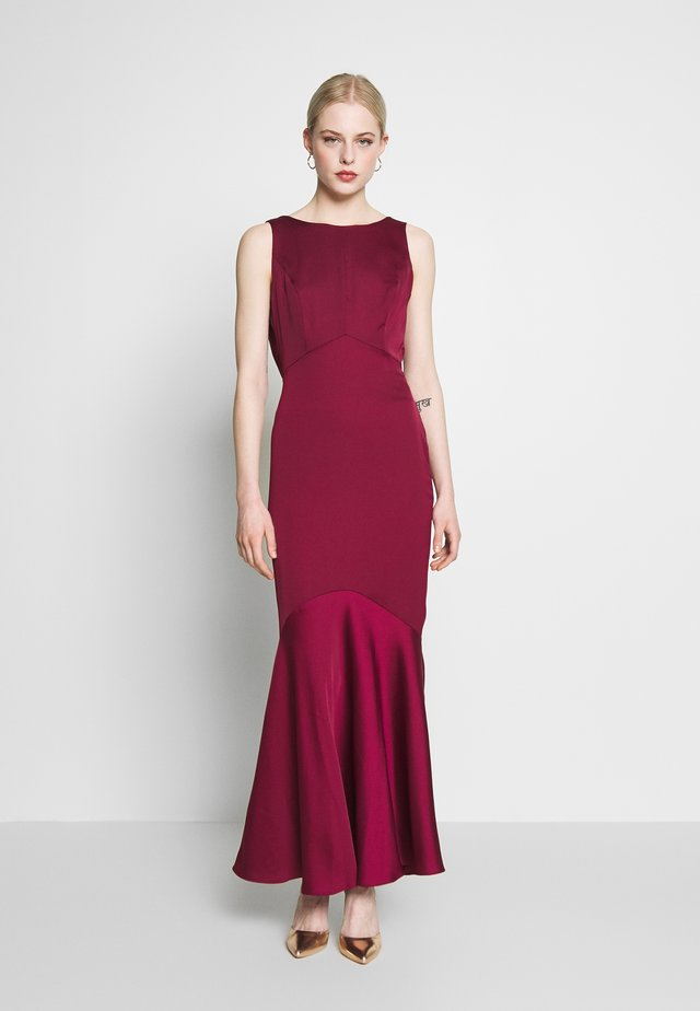 AMELIA COWL BACK - Festklänning - burgundy
