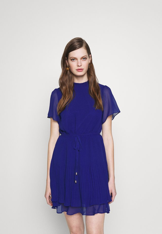 PLAIN PLEATED SKATER - Day dress - rich blue