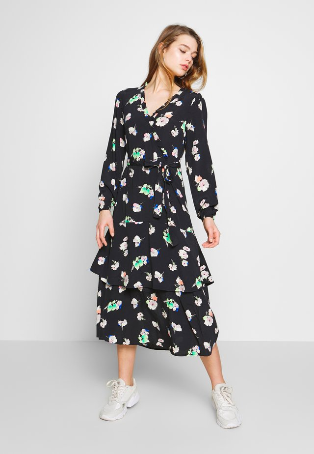 POP FLORAL MIDI DRESS - Hverdagskjoler - multi/black