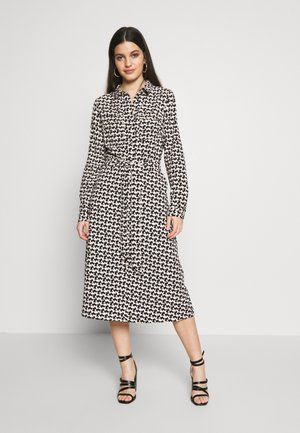 DRESS - Shirt dress - black/white