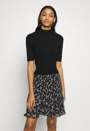 MERCI FLORAL DRESS - Jumper dress - black
