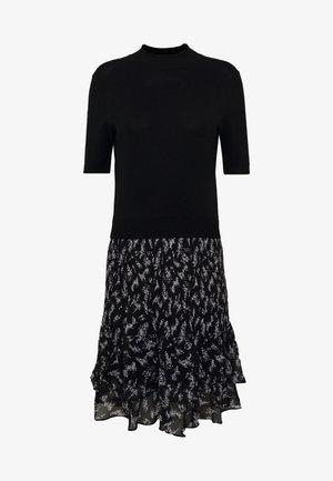 MERCI FLORAL DRESS - Strickkleid - black
