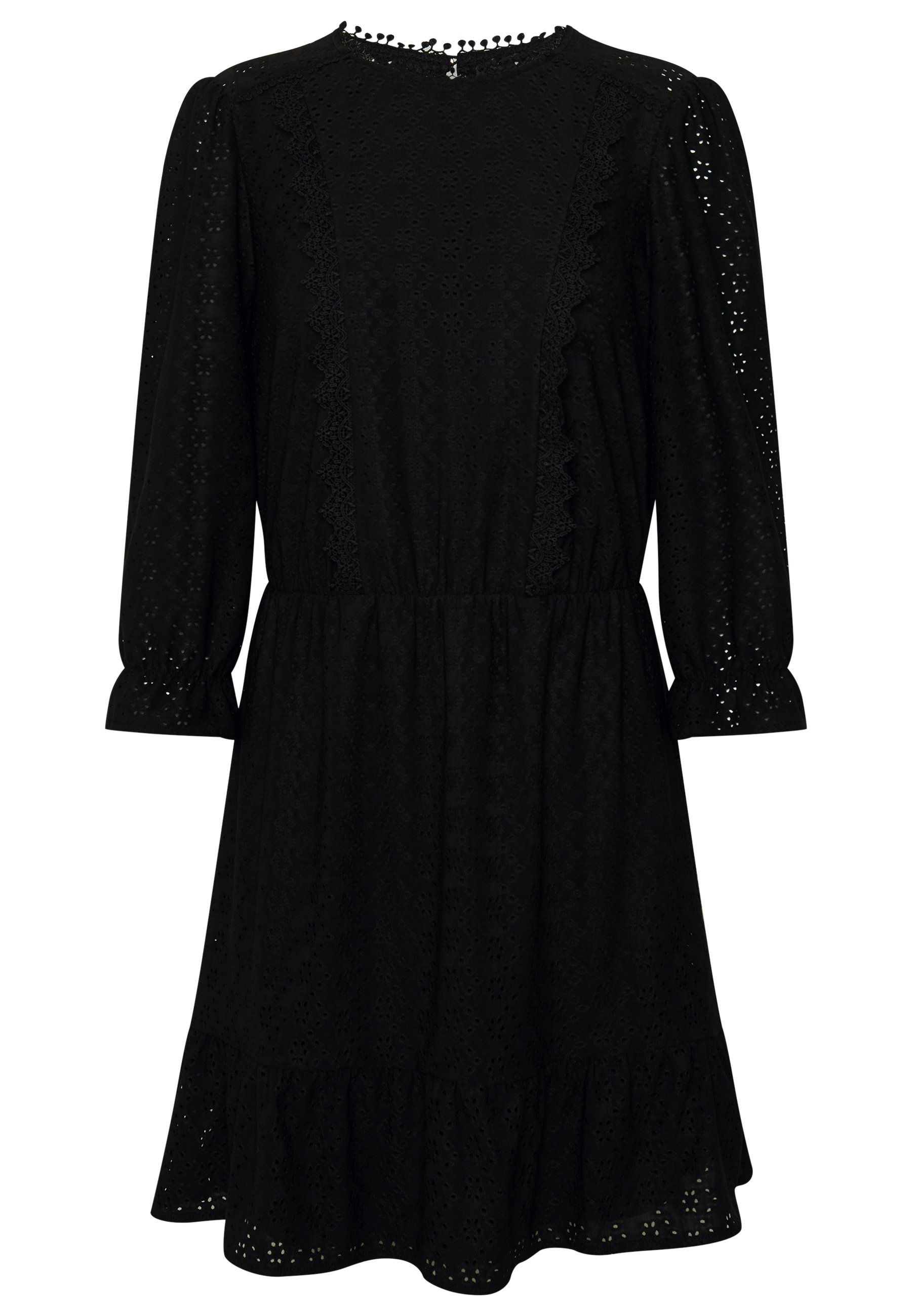 Oasis BRODERIE PRARIE DRESS - Sukienka letnia - black