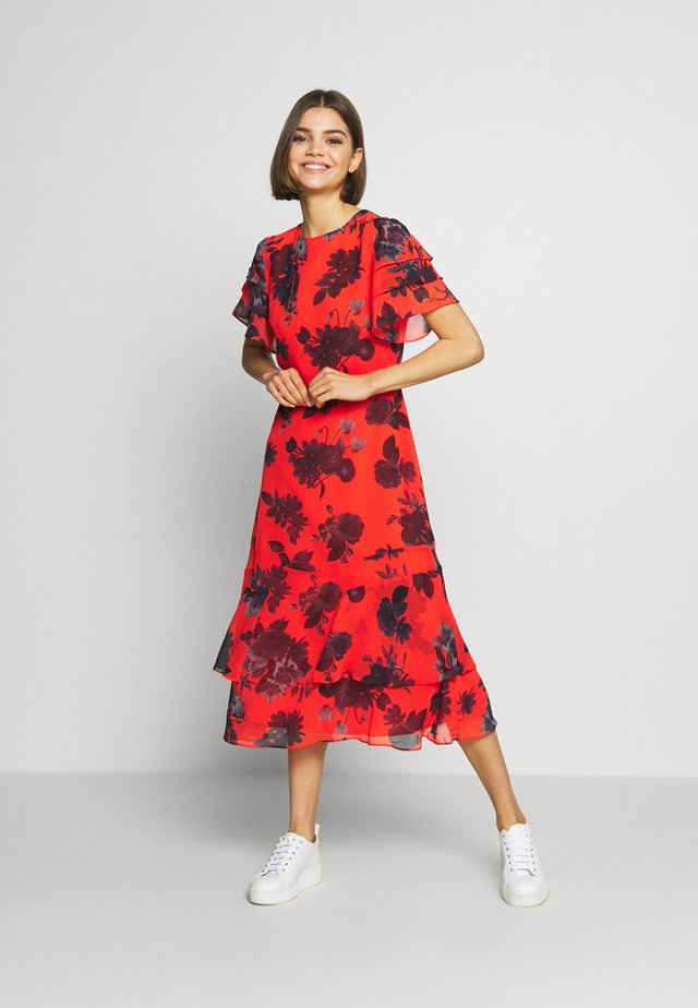 SHADOW PRINT MIDI - Day dress - coralle