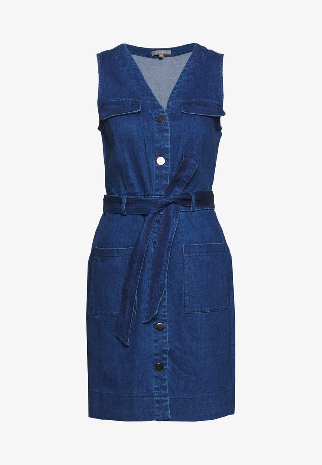 POPPER FRONT UTILITY DRESS - Jeanskjole / cowboykjoler - blue denim