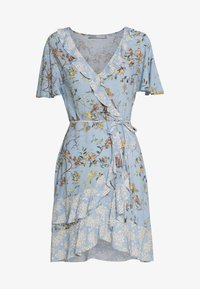 Oasis - BERNADETTE BIRD RUFFLE PATCHED TEA DRESS - Denní šaty - multi/blue - 0
