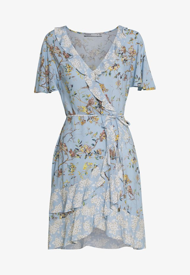 BERNADETTE BIRD RUFFLE PATCHED TEA DRESS - Korte jurk - multi/blue