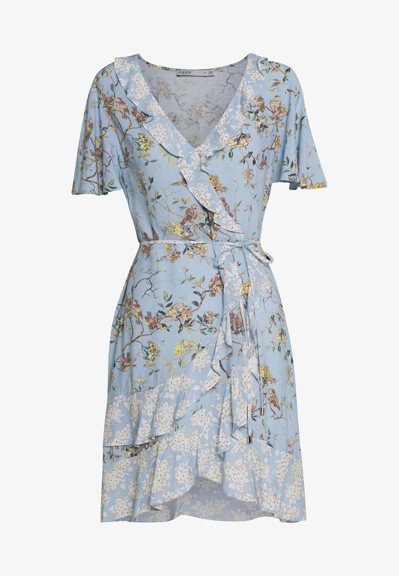 Oasis - BERNADETTE BIRD RUFFLE PATCHED TEA DRESS - Denní šaty - multi/blue