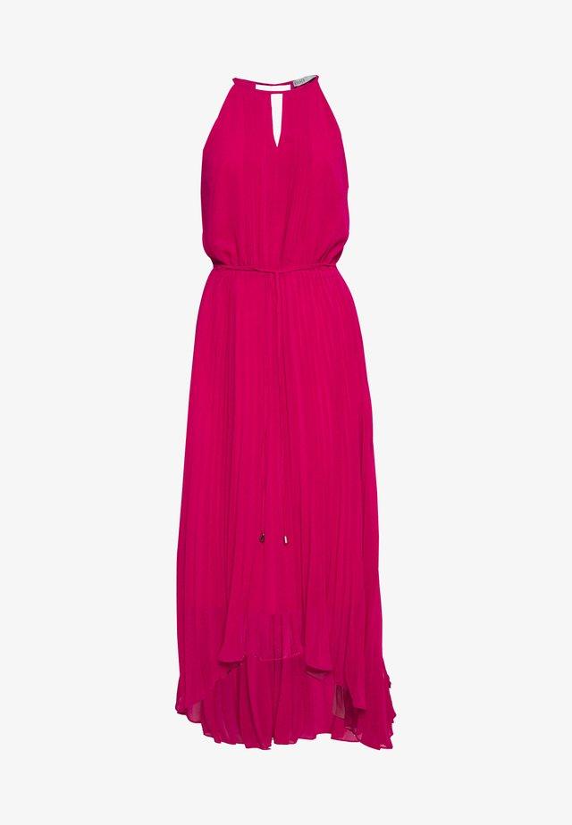 PLAIN KEYHOLE PLEAT MIDI - Maxi šaty - mid pink