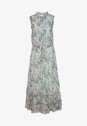 FARMHOUSE FLORAL TRIM TIERED HEM MIDI - Korte jurk - multi/blue