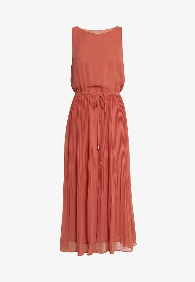 PLEATED MIDI DRESS - Vestito estivo - bronze