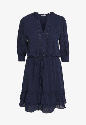 DOBBY DRESS - Shirt dress - navy