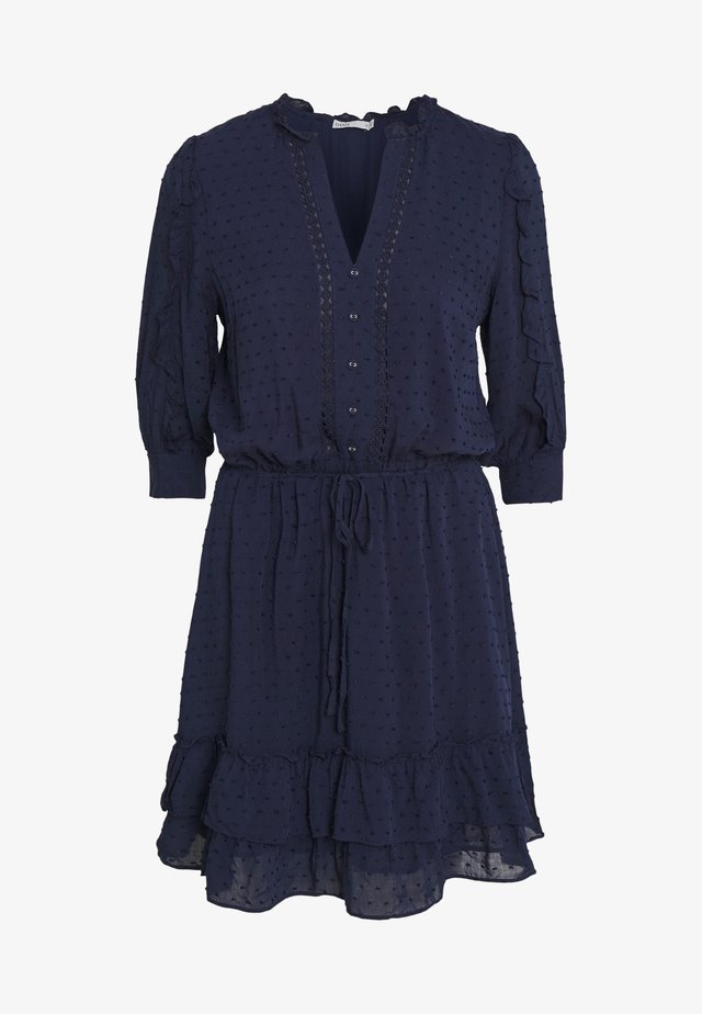 DOBBY DRESS - Shirt dress - navy