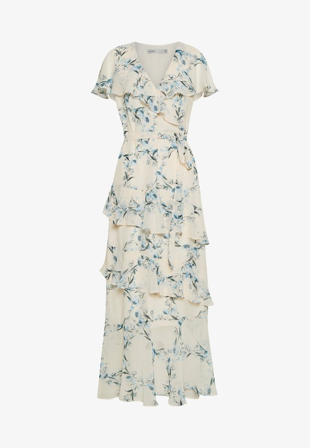 REBECCA FLORAL TIERED RUFFLE MAXI - Day dress - beige