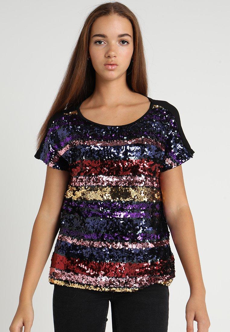 Oasis - RAINBOW SEQUIN TEE - Camiseta estampada - multi