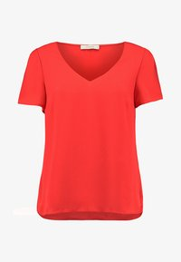 Oasis - V NECK T-SHIRT - Pusero - MID RED - 4