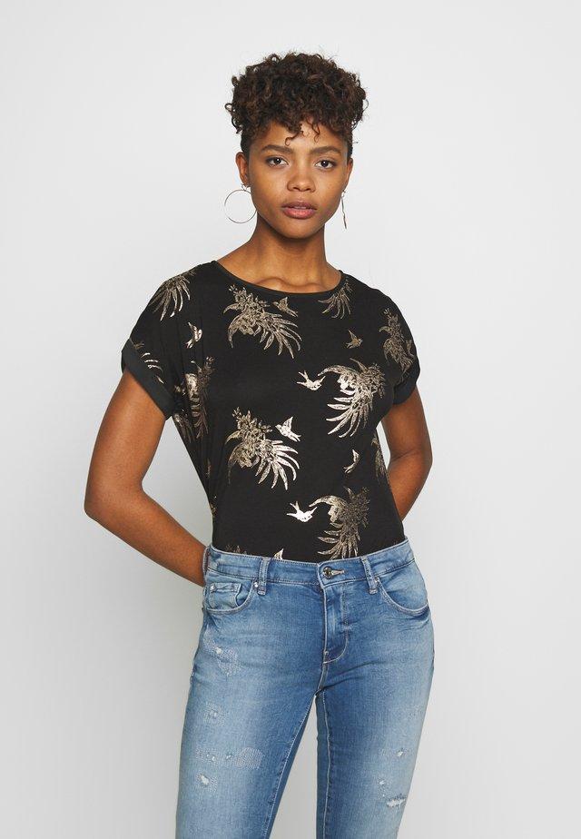 TROPICAL FOIL SLUB TEE - T-shirts print - multi black