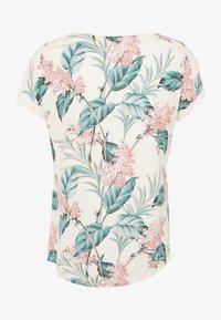 Oasis - LARGE KIANA ALOHA FLORAL SLUB TEE - T-shirts print - multi/white - 1