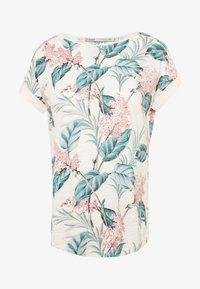Oasis - LARGE KIANA ALOHA FLORAL SLUB TEE - T-shirts print - multi/white - 0