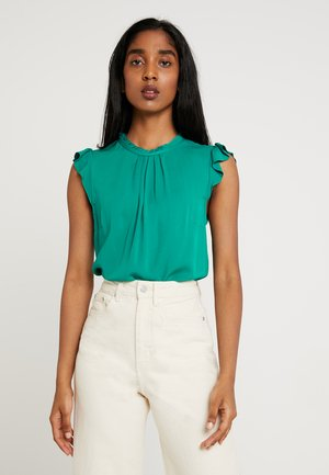 PLEAT NECK CASUAL - Blouse - green