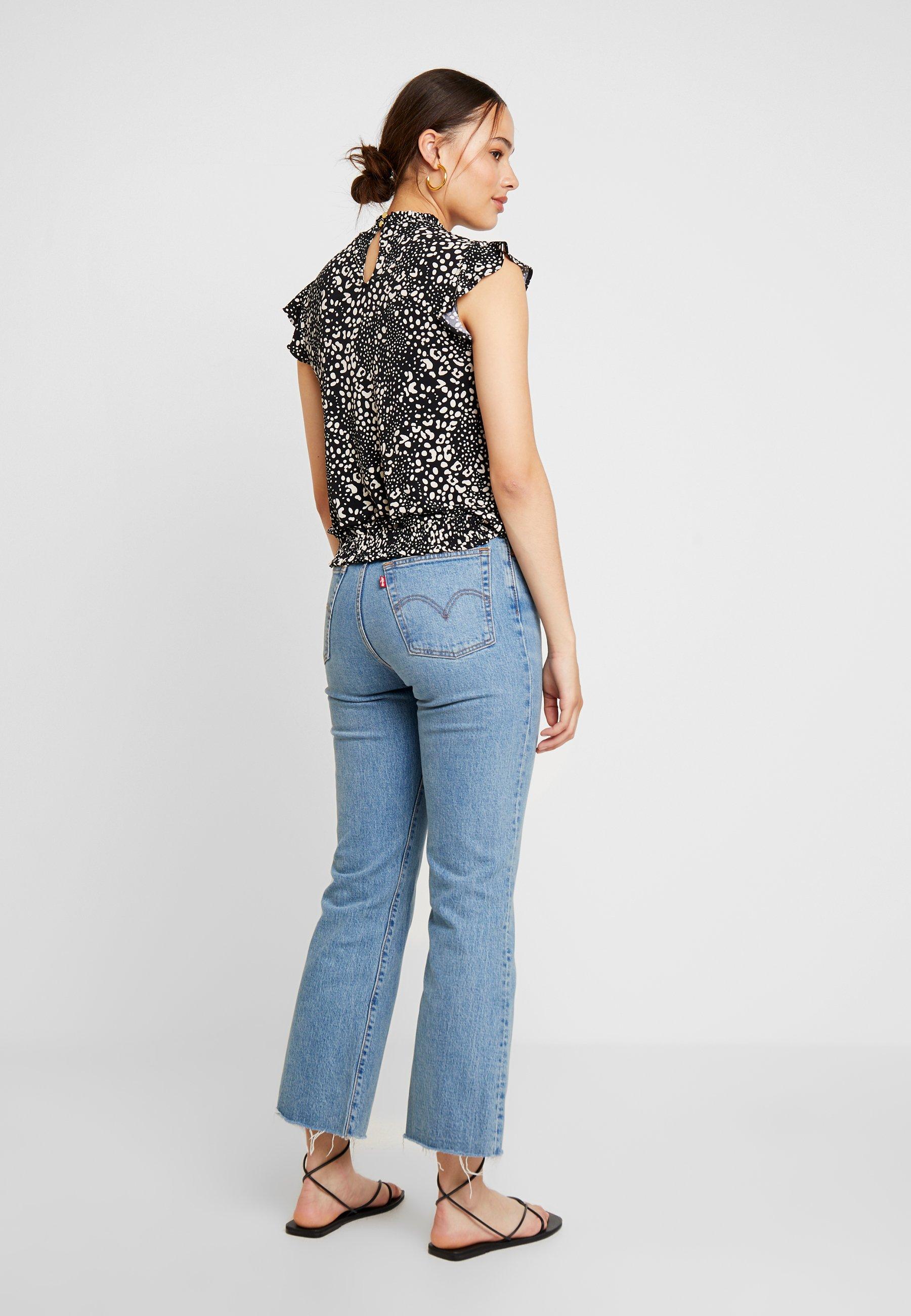 Animal Patched ShellT Oasis Sheered Neck Imprimé shirt Black mN80nwv
