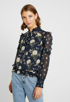 LOGANBERRY TRIM PUSSY BOW - Blouse - multi/blue