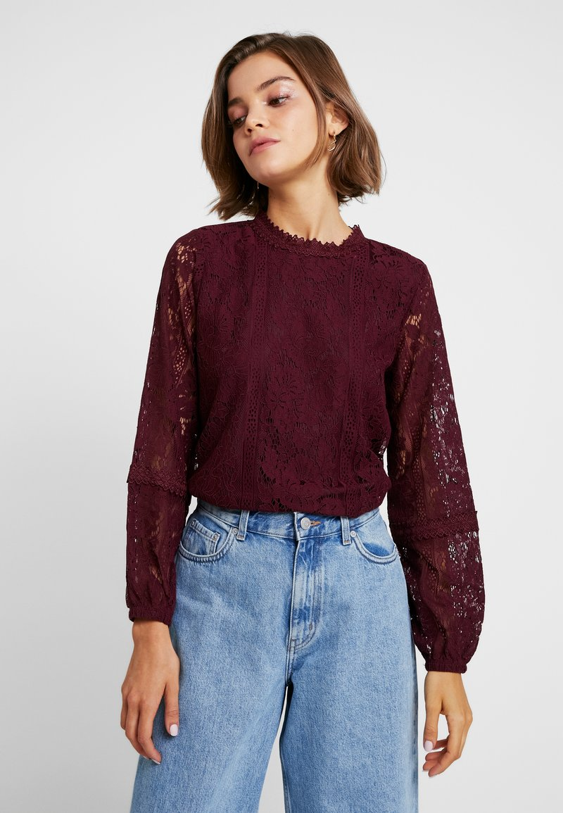 Oasis - LONG SLEEVE EXCLUSIVE - Bluse - berry