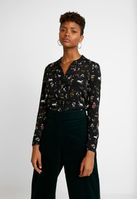 Oasis - REGGIEFRILL ROUCHED - Bluse - multi black - 0