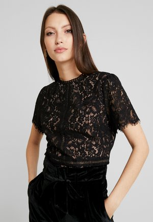 PEPLUM DECO - Blouse - black