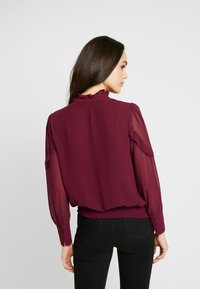 Oasis - TRIM PUSSY BOW - Blouse - burgundy - 2