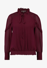 Oasis - TRIM PUSSY BOW - Blouse - burgundy - 4