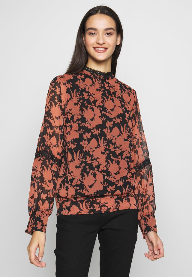 GINGER SHADOW FLORAL BLOUSE - Bluzka - black