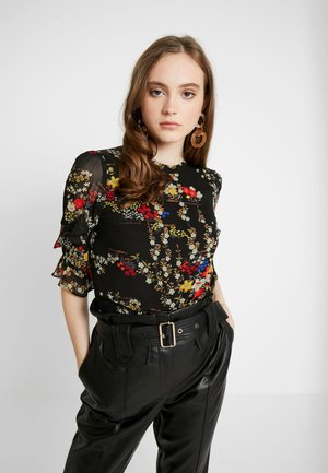 ORIENTAL FRILL SLEEVE - Blouse - multi black